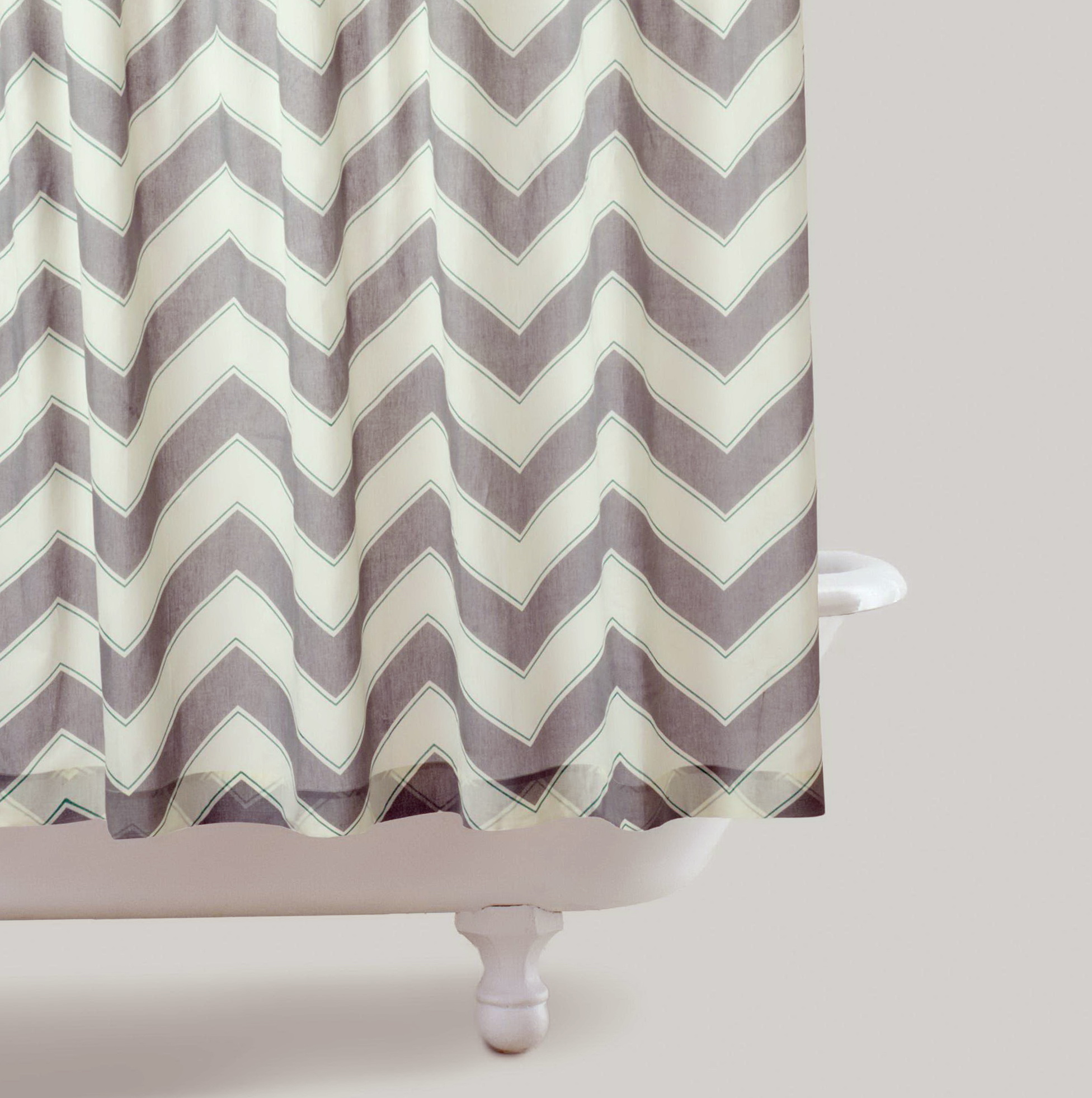 Gray And White Striped Shower Curtains Home Design Ideas