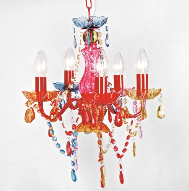 Gypsy Chandelier Multi Colored