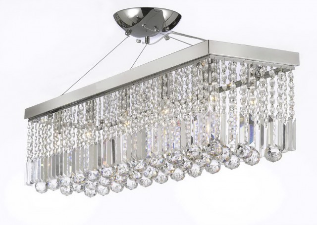Habitat Linear Crystal Chandelier