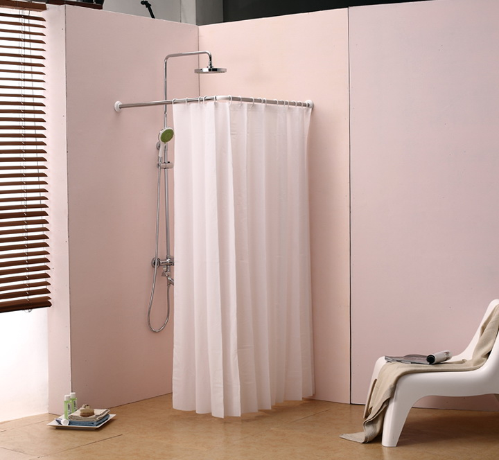 Half Round Shower Curtain Rod Home Design Ideas