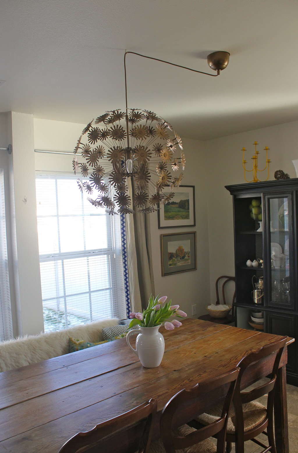 Kitchen Chandelier Over Table