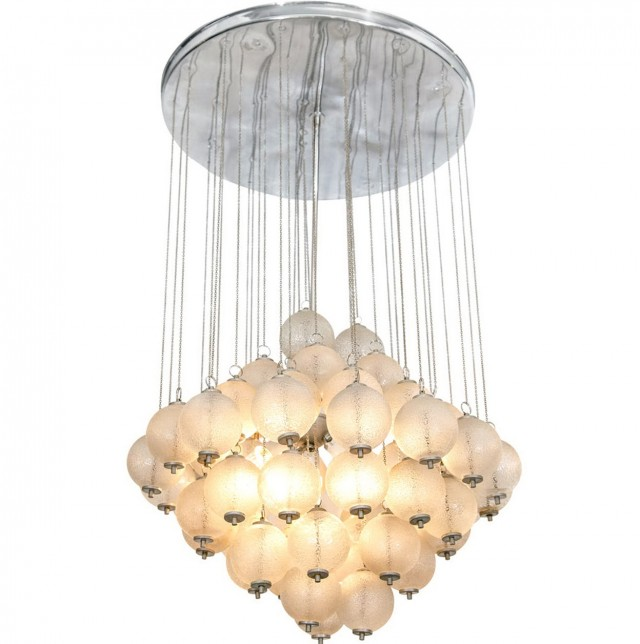Hanging Glass Ball Chandelier