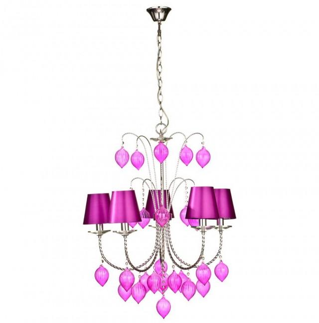 Hot Pink Crystal Chandelier