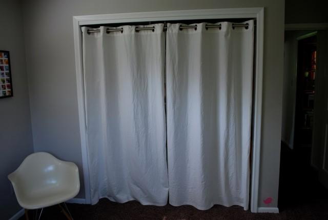 Ikea Panel Curtains As Closet Doors