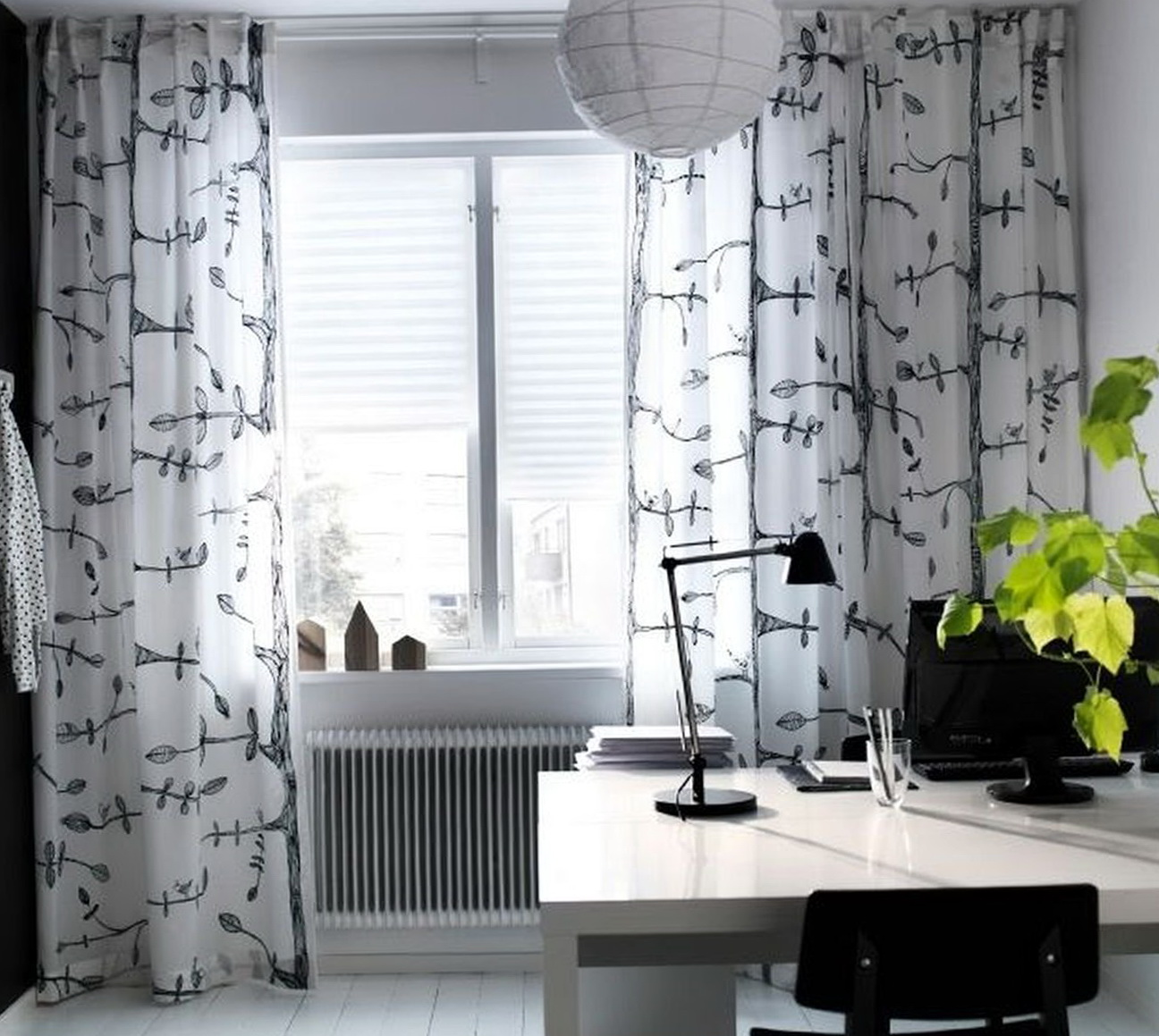 Ikea linen curtains