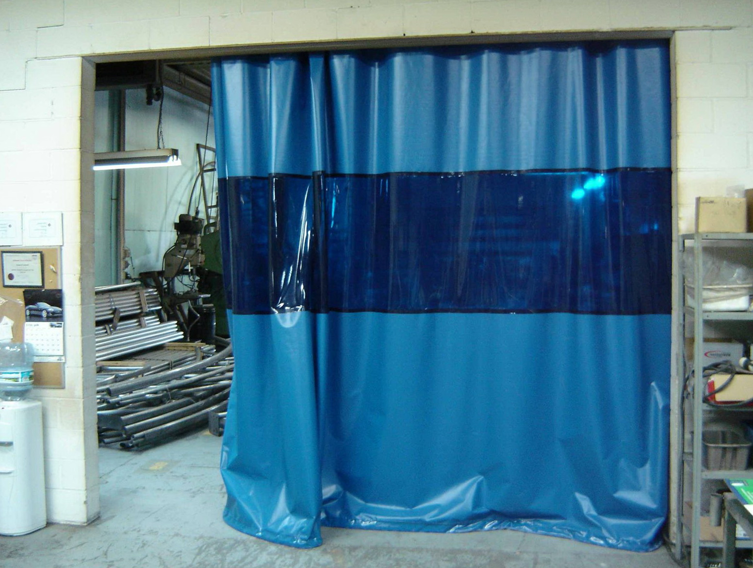 Industrial Curtain Track System Home Design Ideas