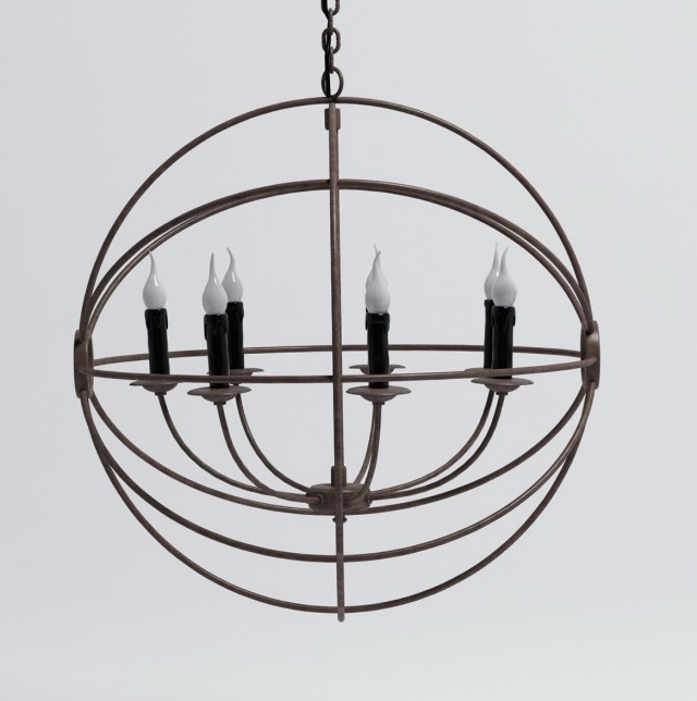 Iron Orb Chandelier Restoration Hardware