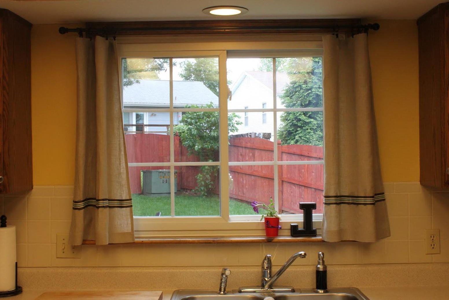 Kitchen Curtain Ideas For Large Windows