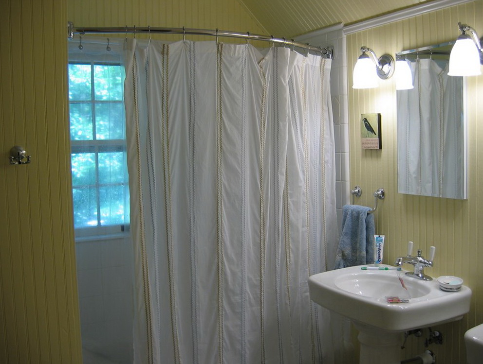 L Shaped Shower Curtain Rod Without Ceiling Support | Home Design ...
