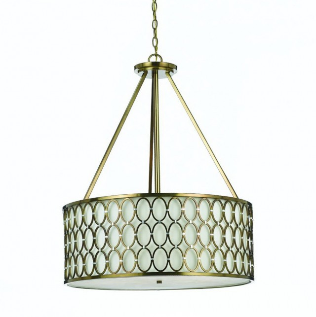Large Drum Pendant Chandelier