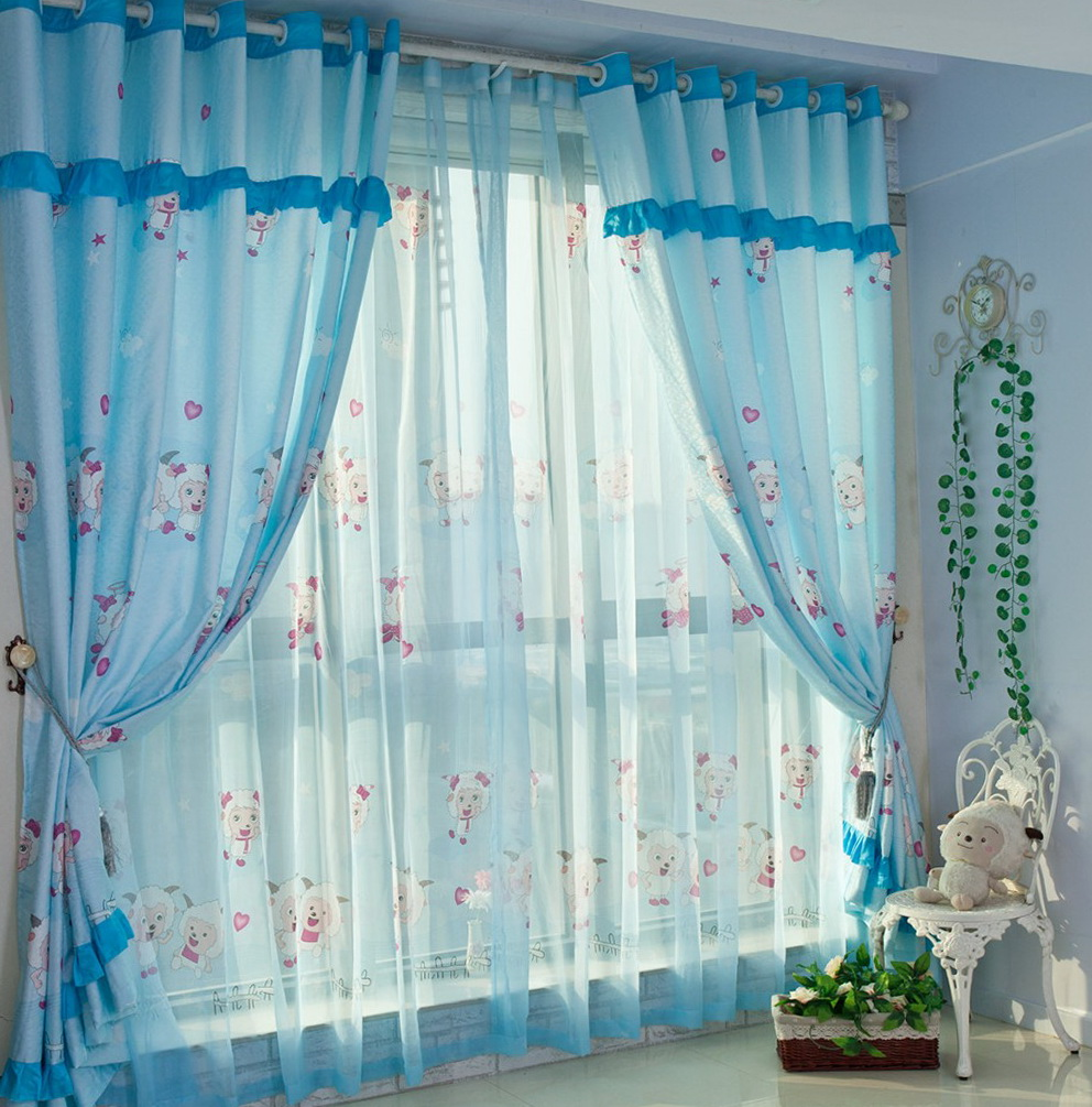 light blue curtains for nursery home design ideas. Black Bedroom Furniture Sets. Home Design Ideas