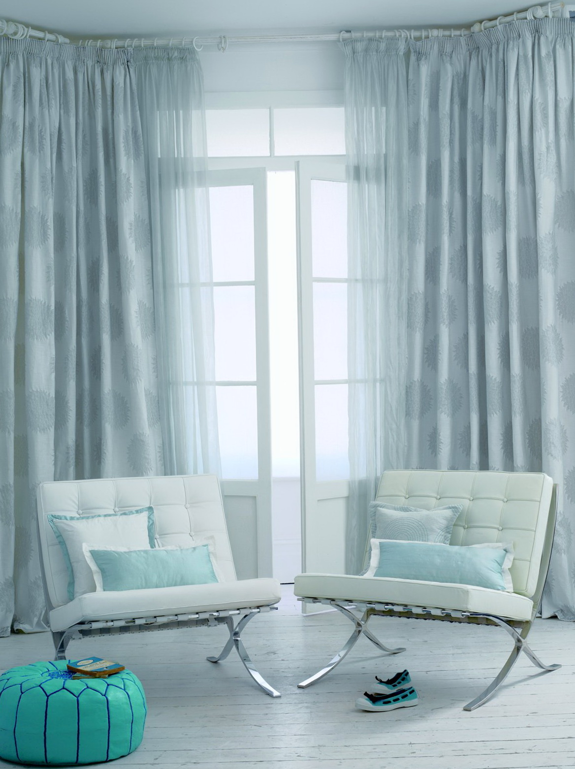 light blue curtains living room home design ideas. Black Bedroom Furniture Sets. Home Design Ideas