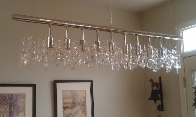 Linear Crystal Chandelier Lighting