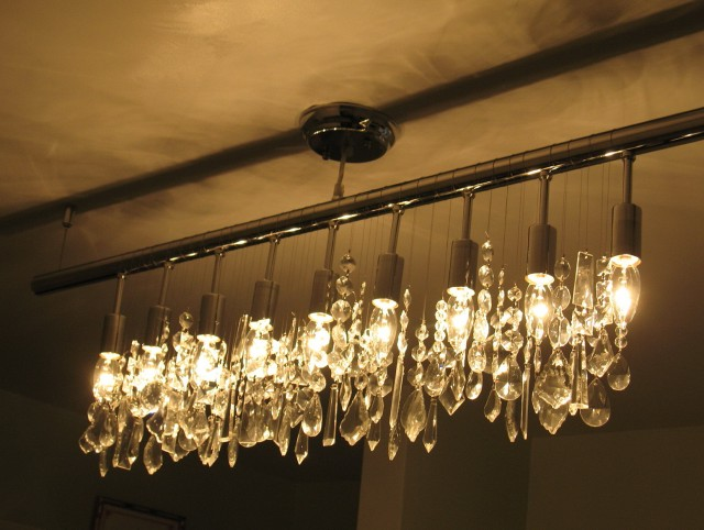 Linear Strand Crystal Chandelier Z Gallerie