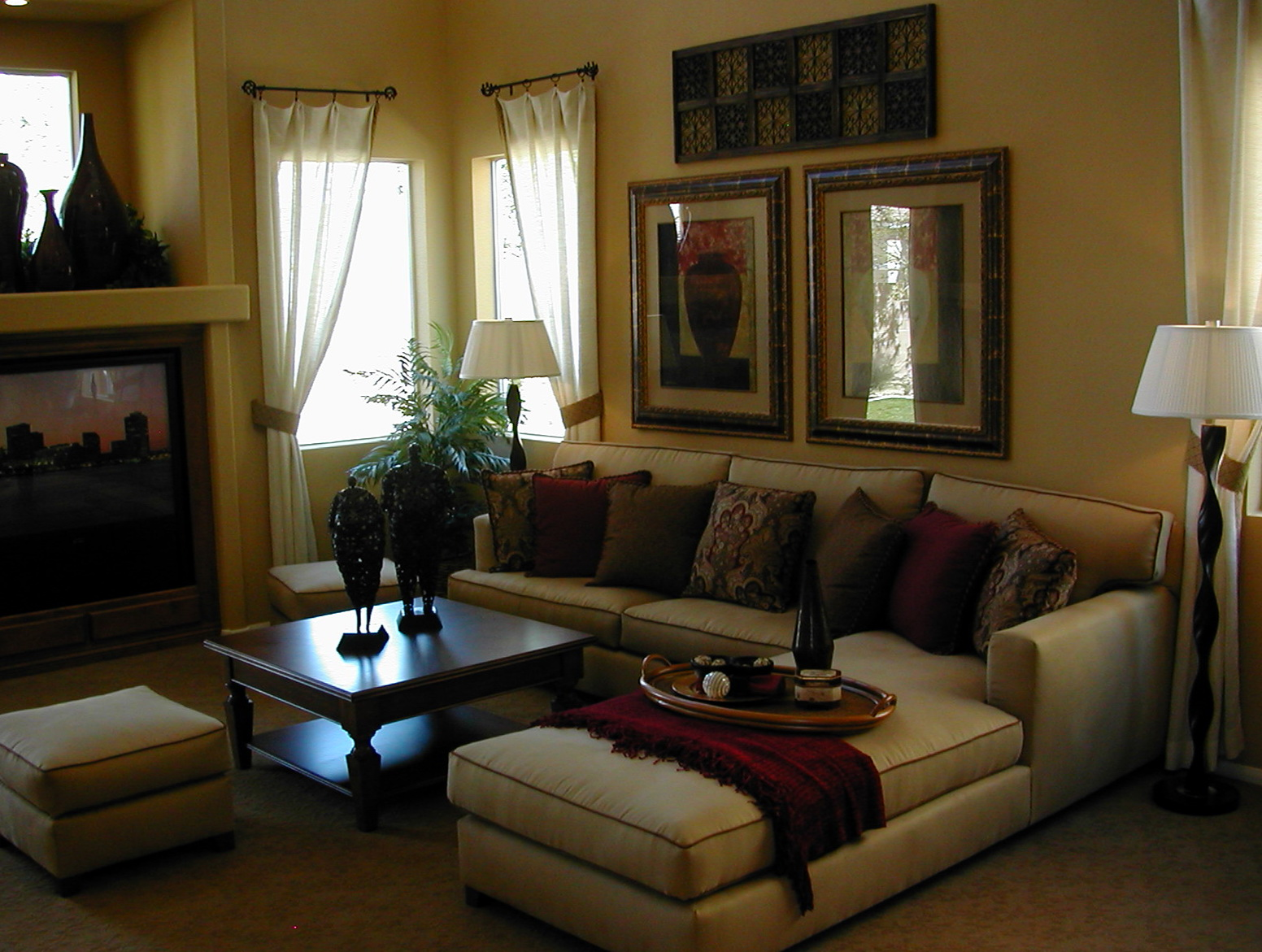Living Room Curtain Ideas Brown Furniture