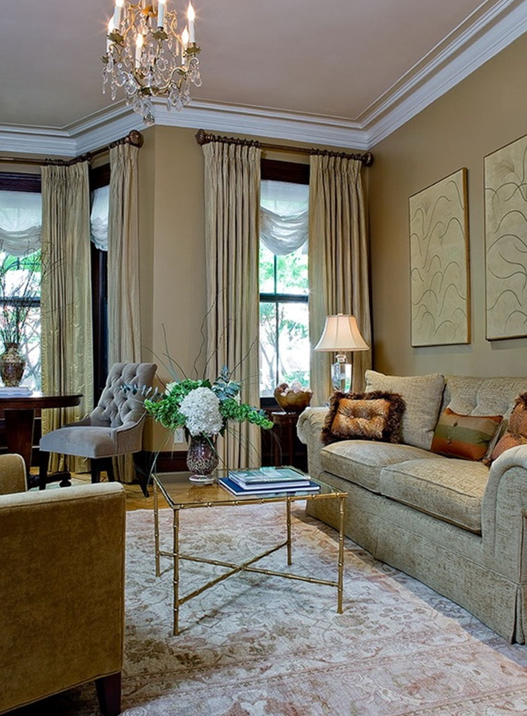 Living Room Double Curtain Rods Home Design Ideas