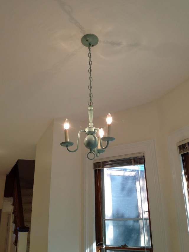 Martha Stewart Milk Glass Chandelier