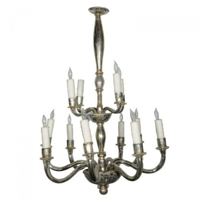 Mercury Glass Pendant Chandelier