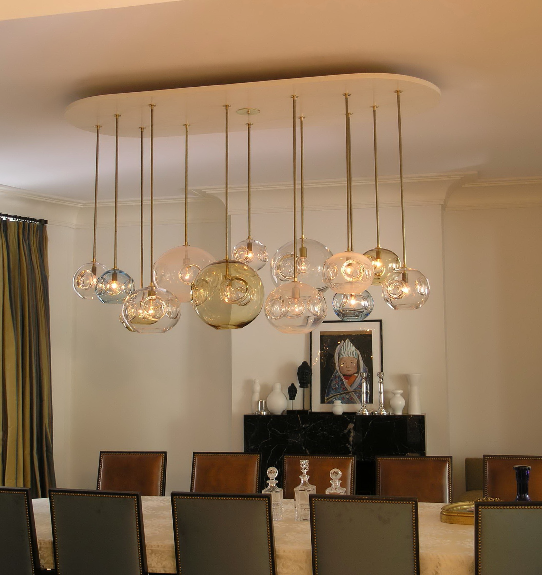 Modern contemporary dining room chandeliers home design for Modern lamps for dining room