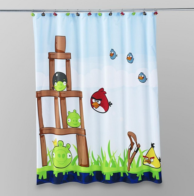 Modern Kids Shower Curtain