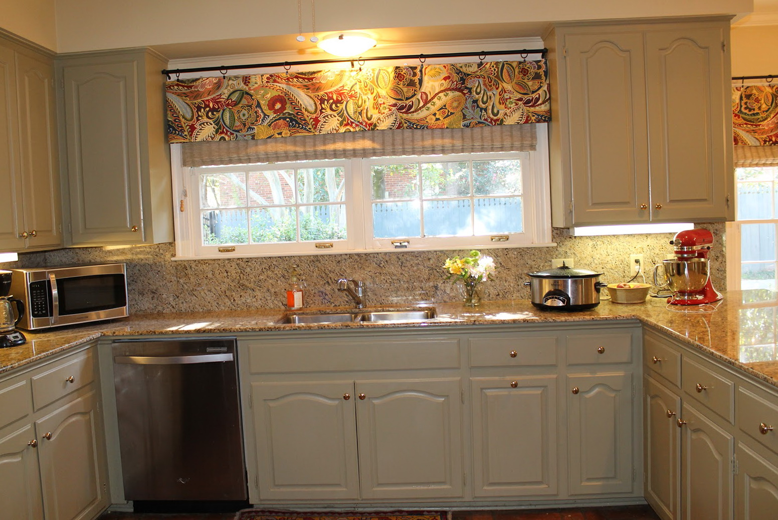 Modern kitchen curtains and valances home design ideas - Modern valances for kitchen ...