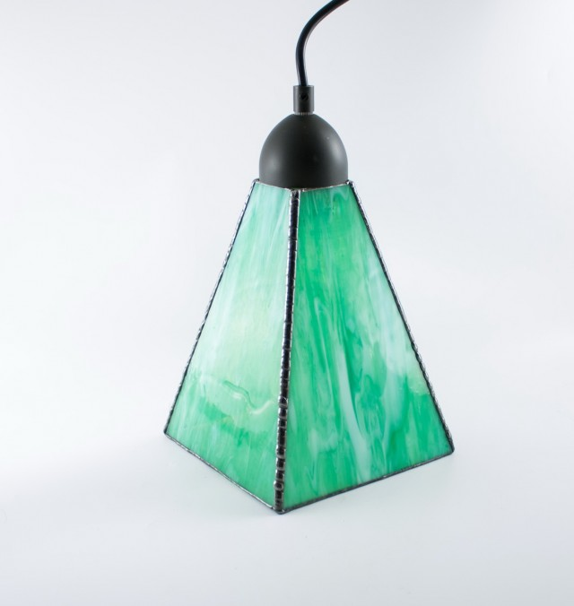 Modern Stained Glass Chandelier