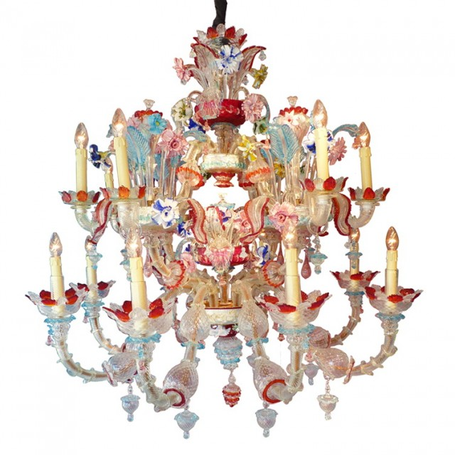 Multi Colored Chandelier Lighting
