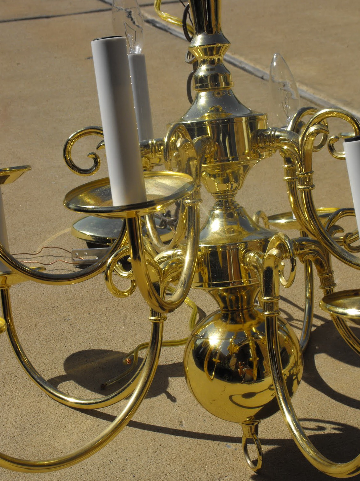 Old Brass Chandelier Makeover