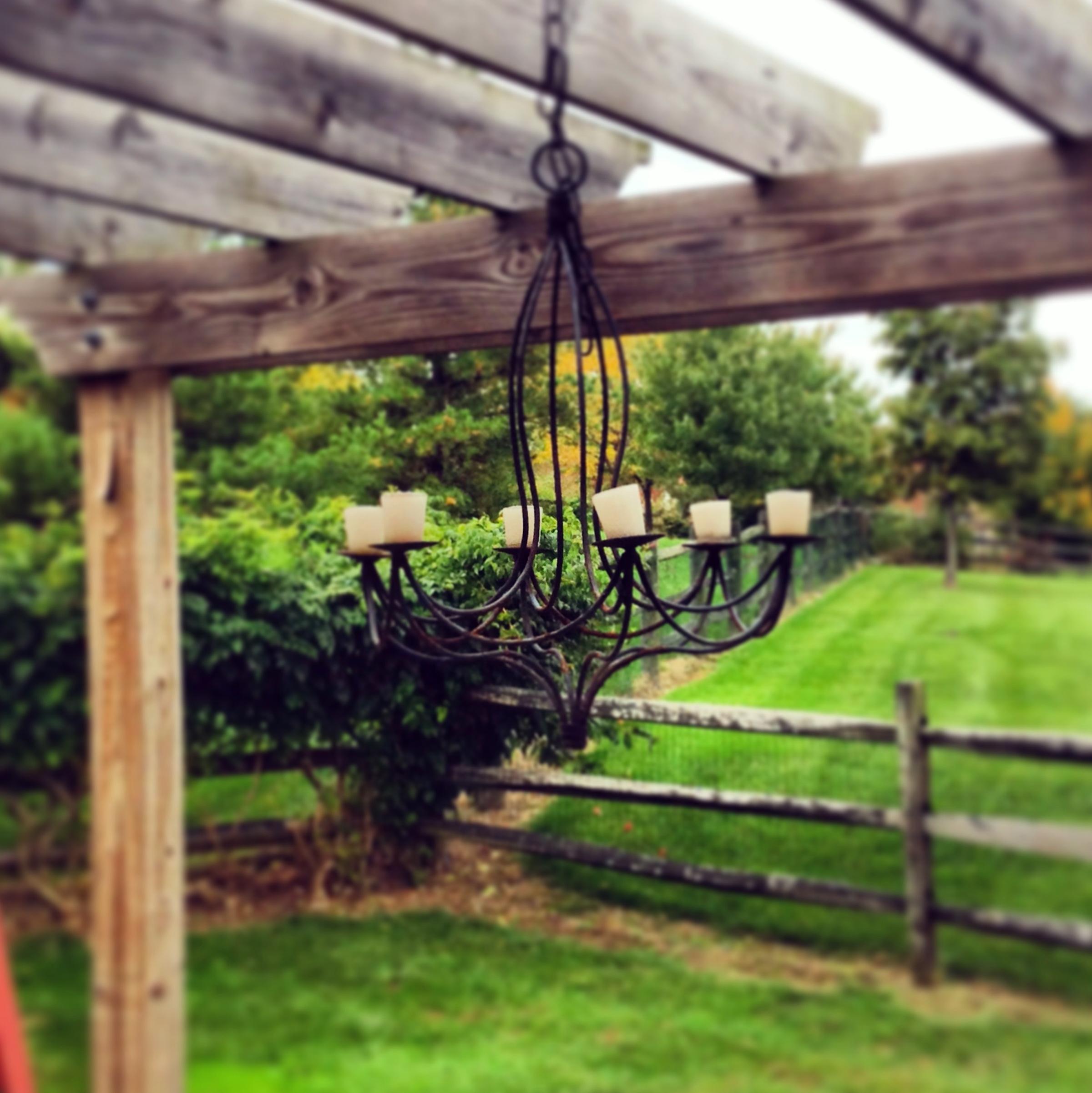 Home Depot Yard Design: Outdoor Candle Chandelier Home Depot