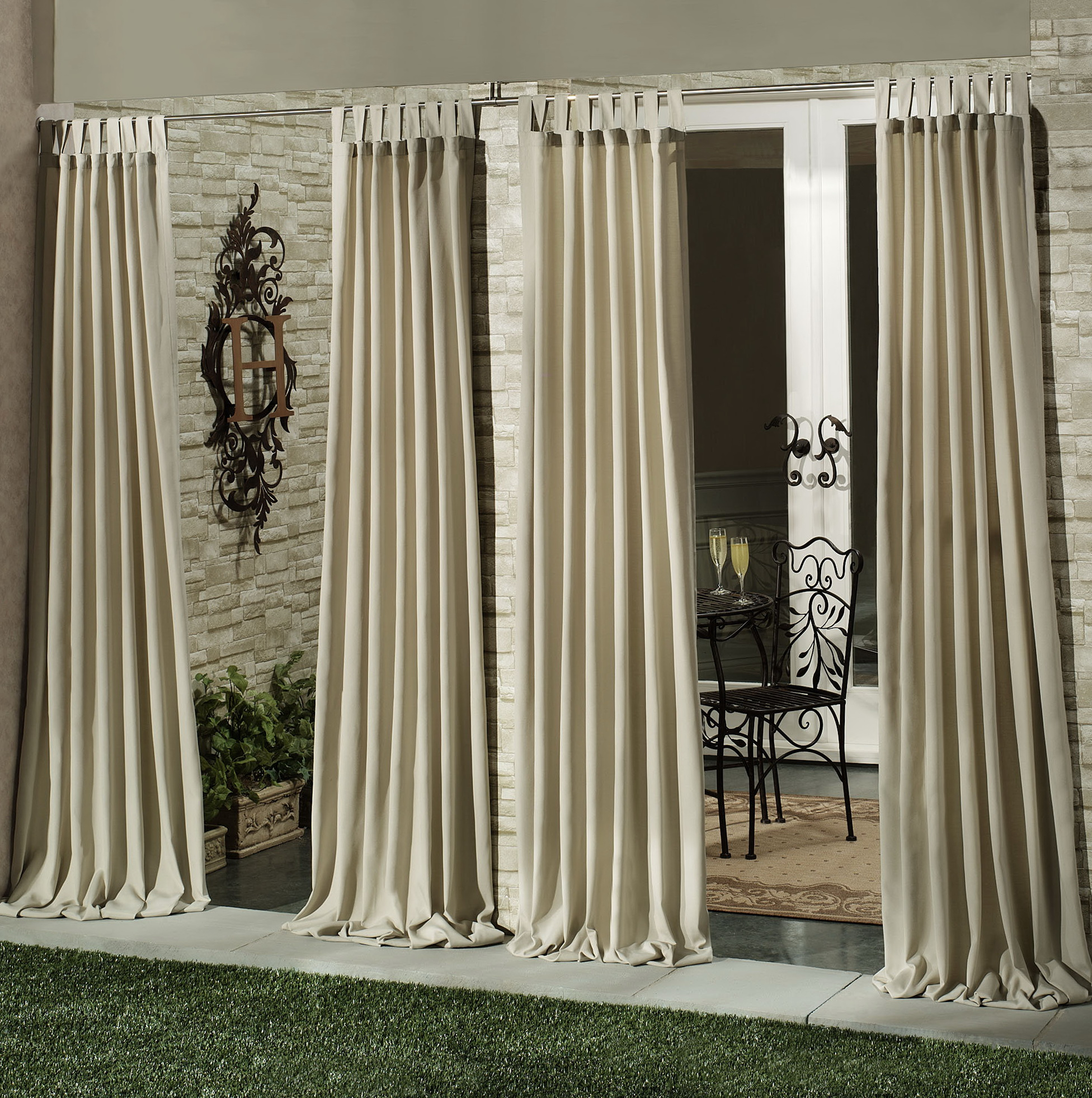 Outdoor Curtain Panels Clearance Home Design Ideas