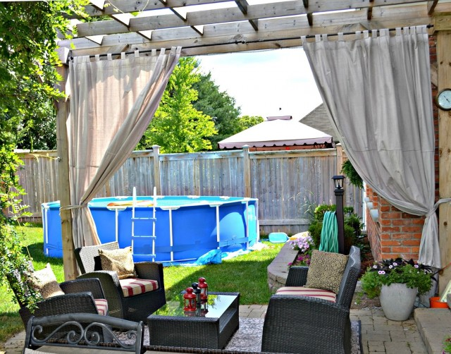 Outdoor Plastic Curtains For Patio