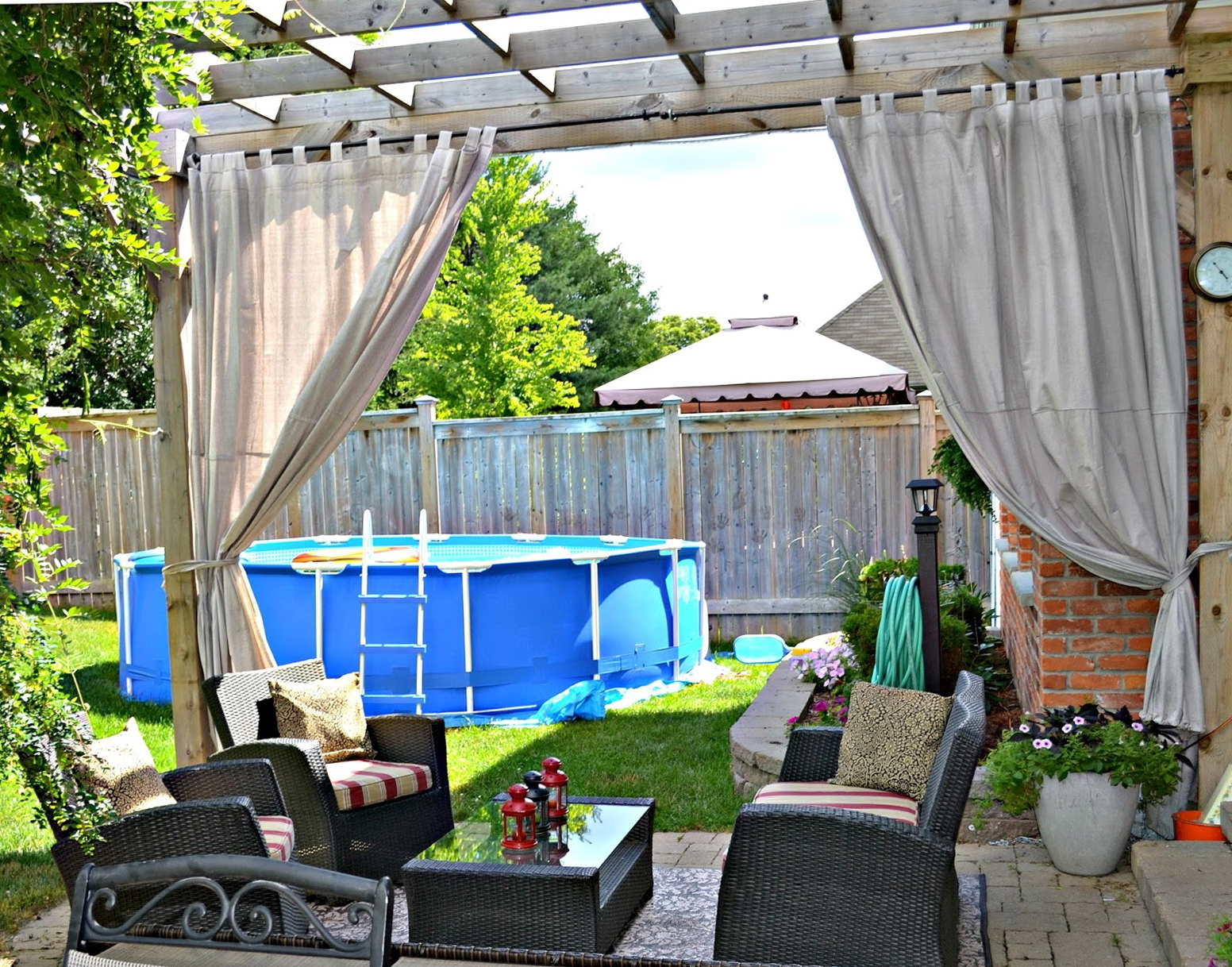 Outdoor plastic curtains for patio home design ideas for Outdoor plastic curtains for patio