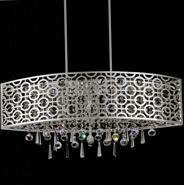 Oval Drum Shade Chandeliers
