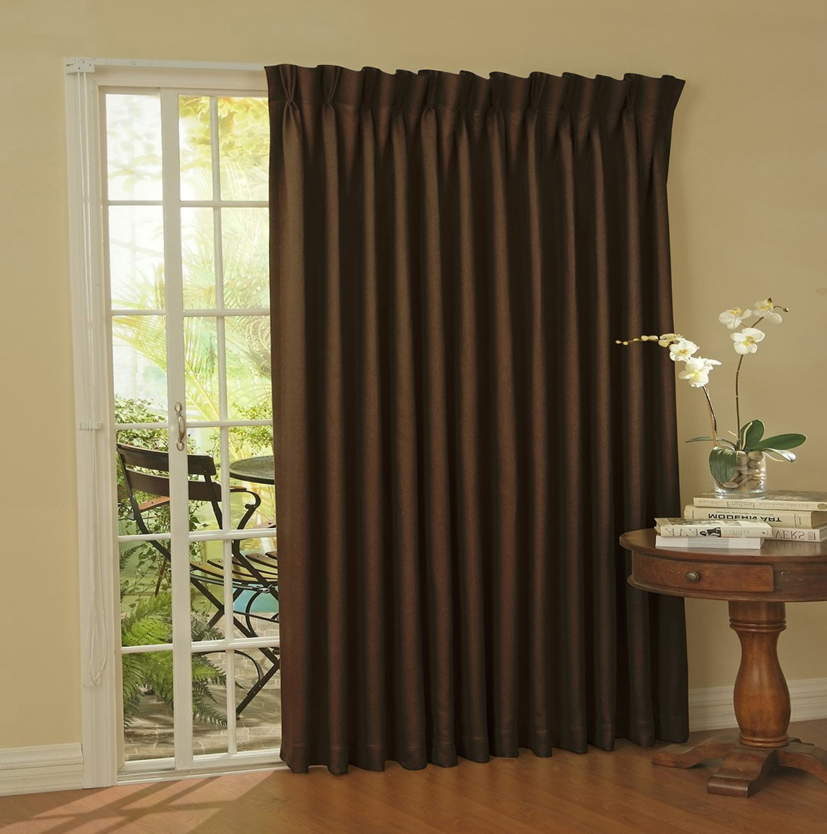 Patio Door Curtains And Drapes Home Design Ideas