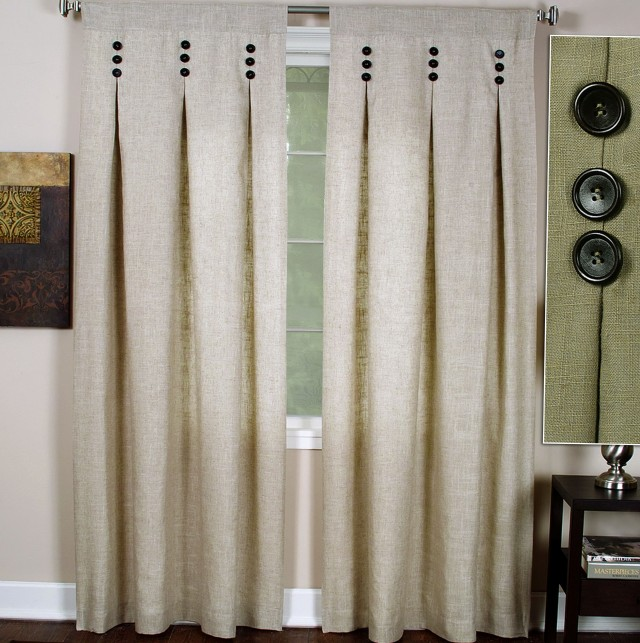Pinch Pleat Curtains With Buttons