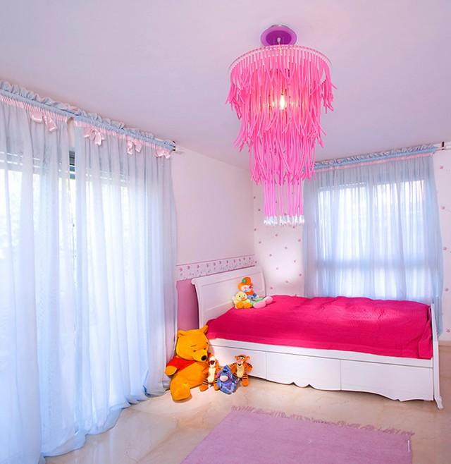 Pink Chandelier For Nursery