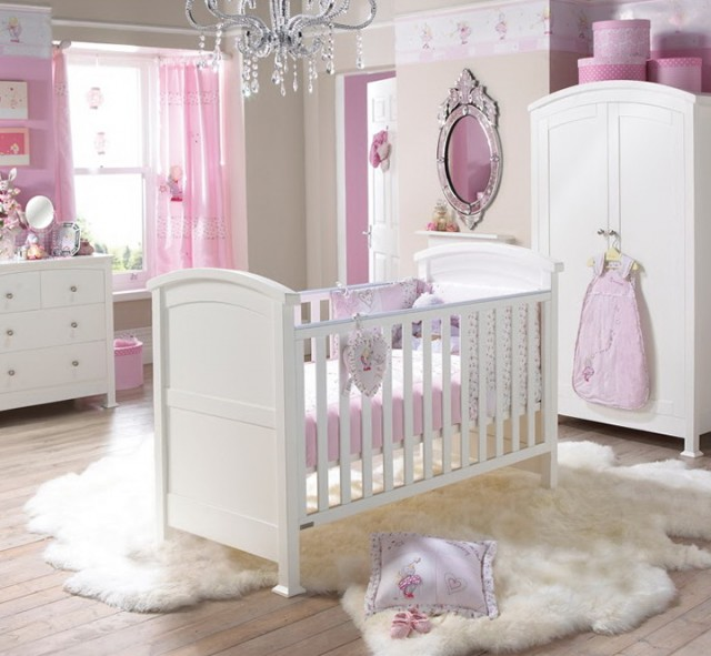Pink Crystal Chandelier For Nursery