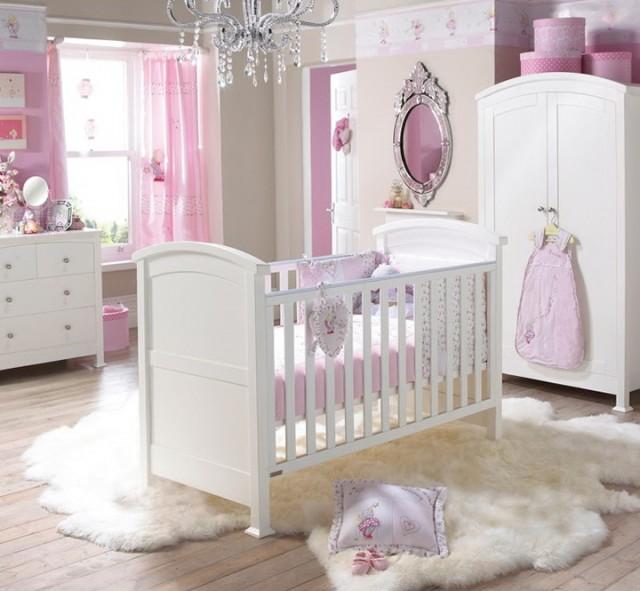 Pink Crystal Chandelier For Nursery