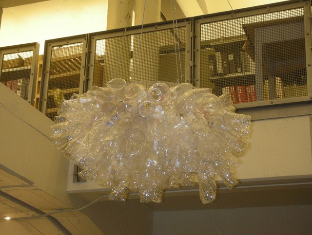 Plastic Water Bottle Chandelier