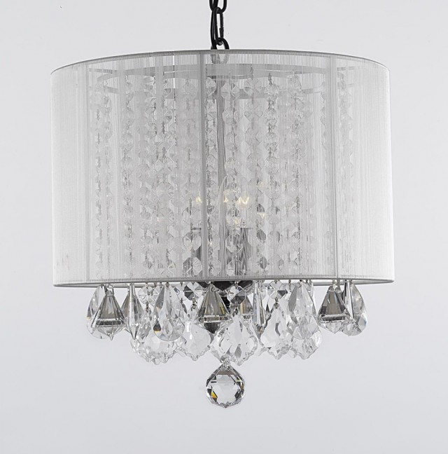 Plug In Crystal Chandelier Lighting