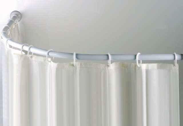 Quarter Round Shower Curtain Rod