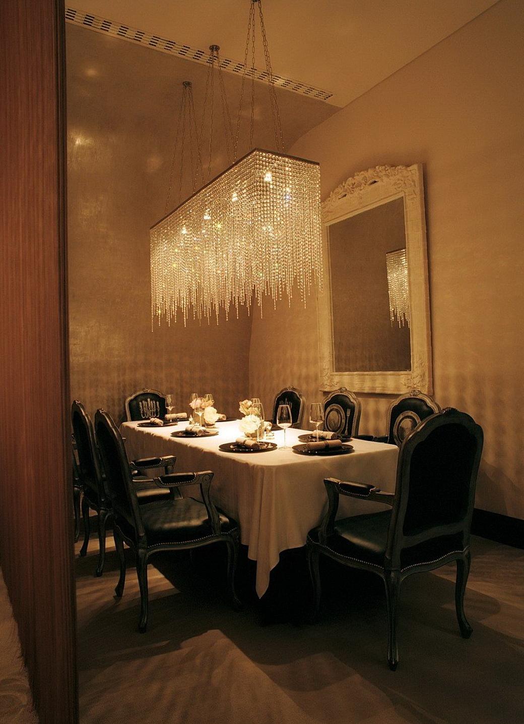 rectangular crystal chandelier dining room home design ideas. Black Bedroom Furniture Sets. Home Design Ideas