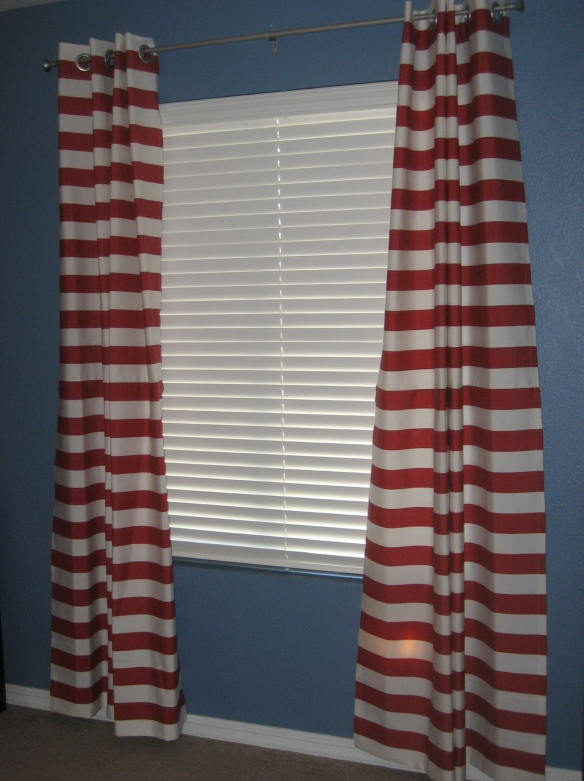 Red Horizontal Striped Curtains Home Design Ideas