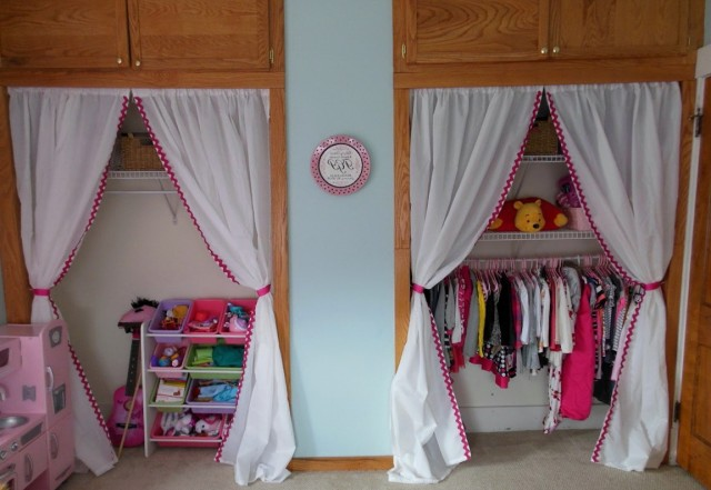Replacing Closet Doors With Curtains