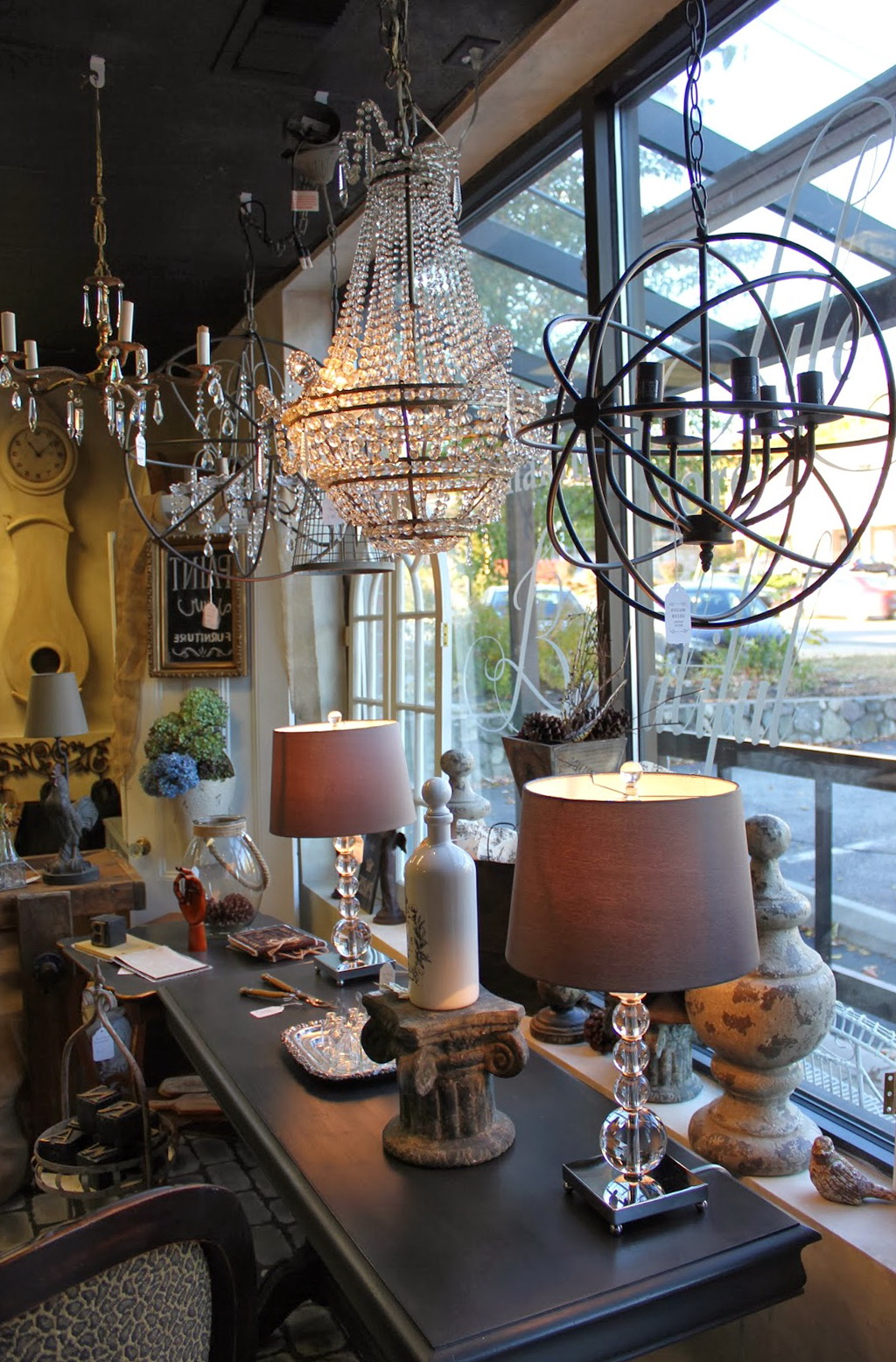 Restoration Hardware Crystal Orb Chandelier