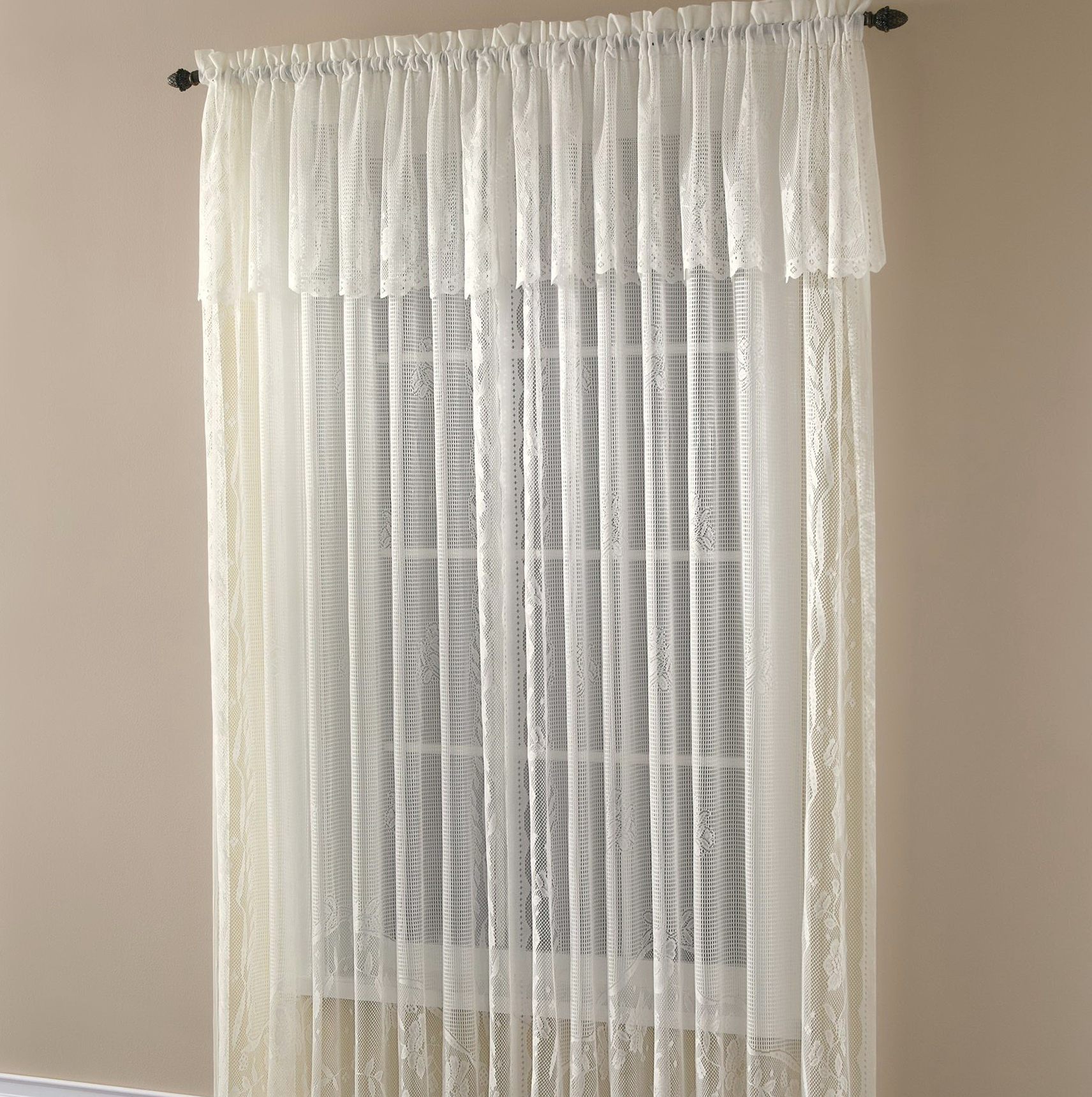 Curtains with valance attached