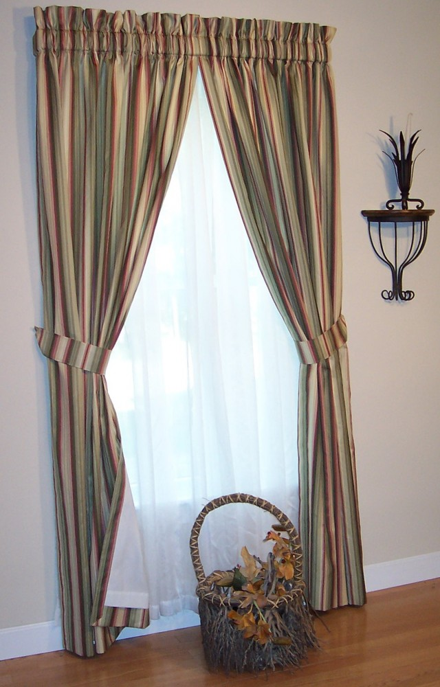 Rod Pocket Heading Curtains