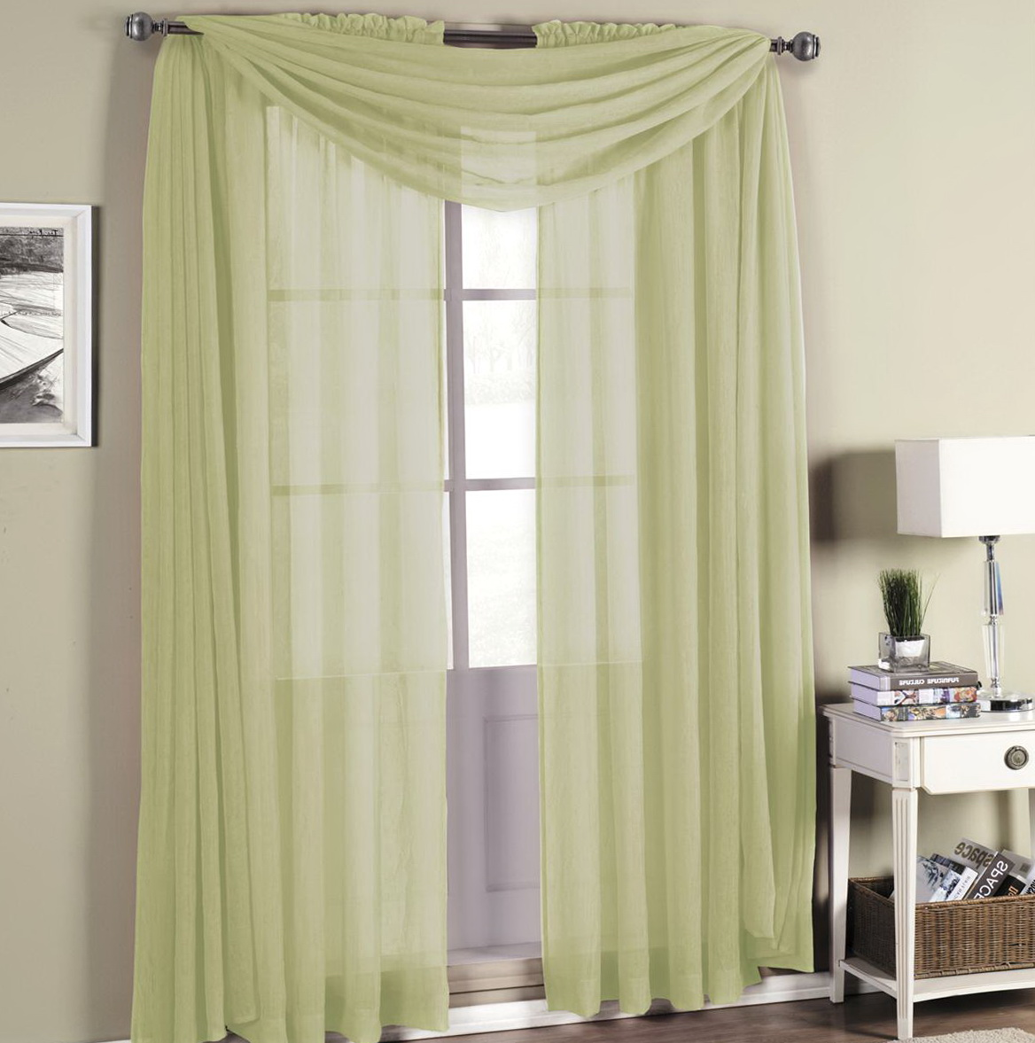 Rod Pocket Sheer Curtains