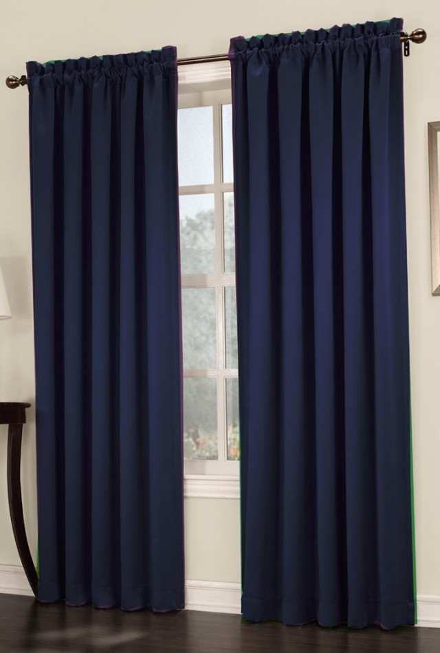 Rooms With Navy Blue Curtains