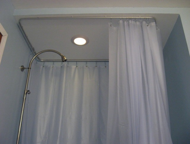 Quarter Round Shower Curtain Rod Home Design Ideas